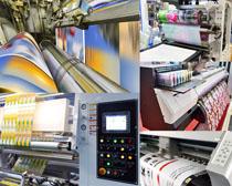 印刷生产机器摄影高清图片