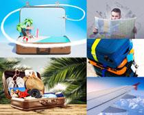 旅游旅行箱攝影高清圖片