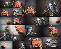 三文鱼食材摄影高清图片