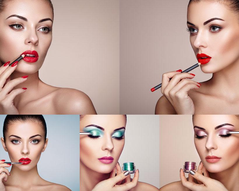 化妝的歐美美女攝影高清圖片