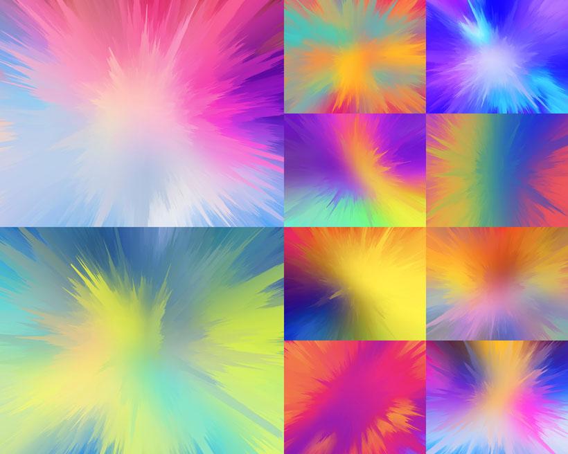 彩色光芒背景摄影高清图片