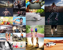 户外运动健身男女摄影高清图片