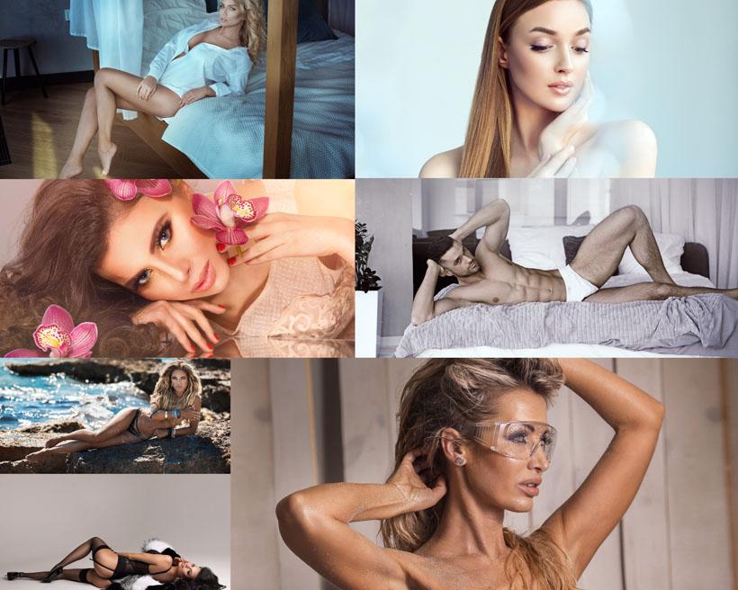 男女性感模特写真摄影高清图片