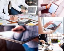 商务办公平板电脑摄影高清图片