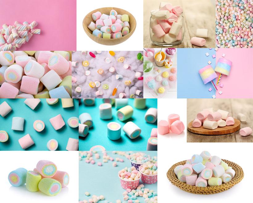 棉花糖果摄影高清图片