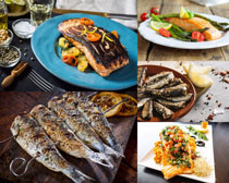 烤鱼食物摄影高清图片