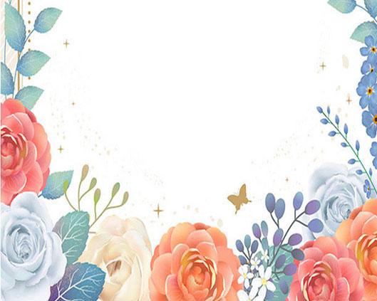 花朵边框背景PSD素材