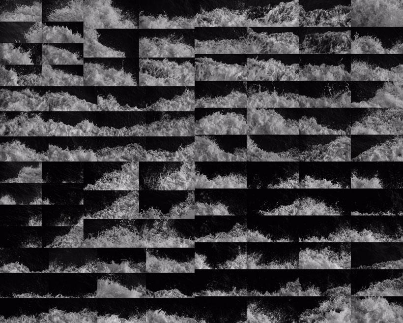 黑白海浪风景摄影高清图片