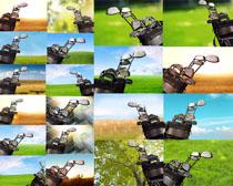 高爾夫工具展示攝影高清圖片