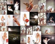 翅膀欧美美女写真摄影高清图片