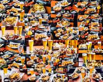 饮料薯条食物摄影高清图片
