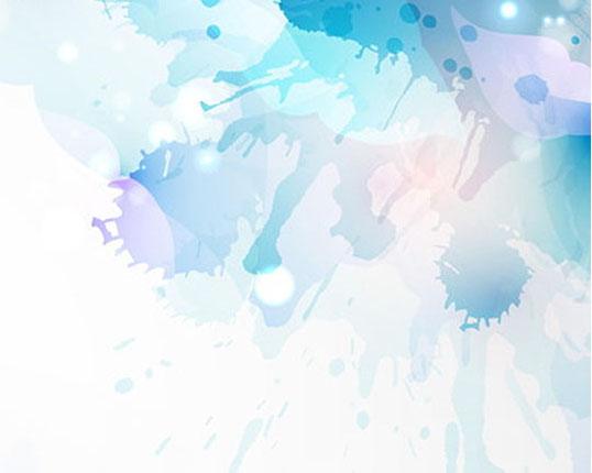 色彩水墨图PSD素材