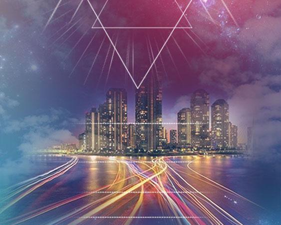 城市发展背景PSD素材