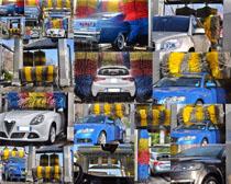 汽车洗车机器摄影高清图片