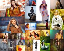 秋季女装模特写真摄影高清图片