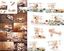 模型木飞机摄影高清图片