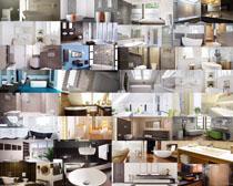 家庭衛浴裝修風格攝影高清圖片