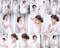 白裙欧美美女写真拍摄高清图片