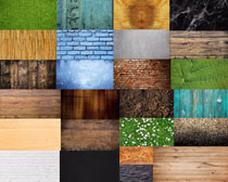 木板与墙壁摄影高清图片
