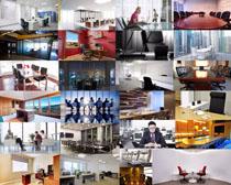商务办公会议室摄影高清图片