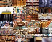 图书馆书本摄影高清图片