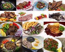 炒牛肉食物摄影高清图片