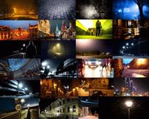 城市建筑夜景拍摄高清图片