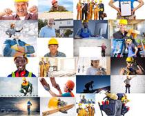 外国建筑工人摄影高清图片