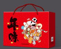 年味大礼包包装盒设计PSD素材