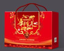 年味食足大礼包包装设计PSD素材