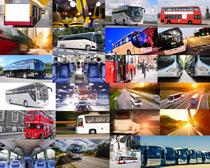大型巴士车摄影高清图片