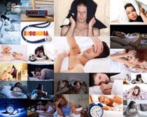 失眠男女摄影高清图片