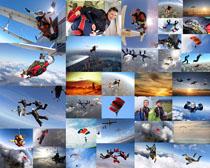 跳伞极限运动员摄影高清图片