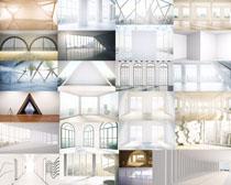 空曠的室內設計攝影高清圖片