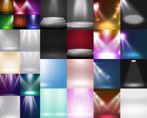 色彩灯泡效果摄影高清图片