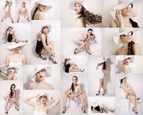 夏装女模特摄影高清图片