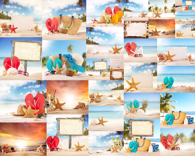 夏日海边风景拍摄高清图片