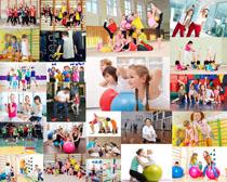 健身快乐儿童摄影高清图片
