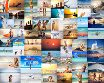 比基尼海边美女拍摄高清图片
