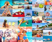 开心快乐一家人摄影高清图片