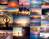 夕阳景观风景拍摄高清图片