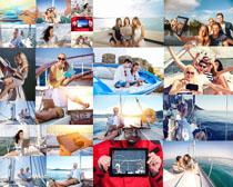 快乐船上人物摄影高清图片