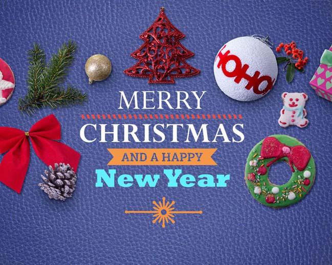 圣诞节装饰背景PSD素材