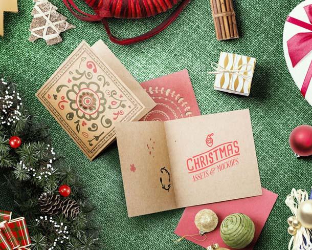 圣诞节贺卡礼物PSD素材