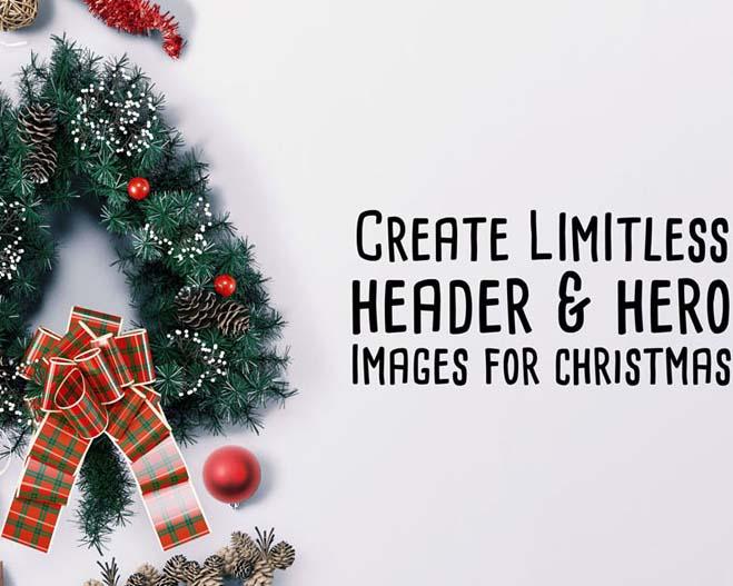 圣诞节封面背景PSD素材