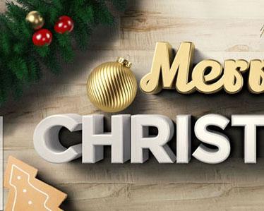 圣诞节横幅封面PSD素材