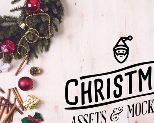 圣诞布置物品PSD素材