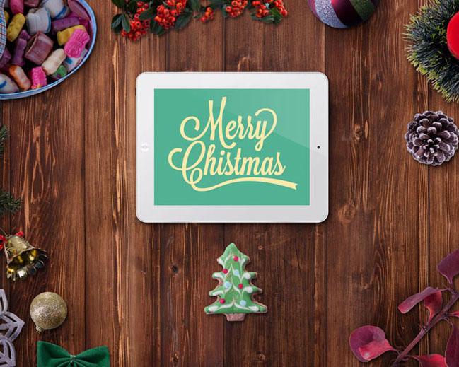 圣诞节装饰品PSD素材