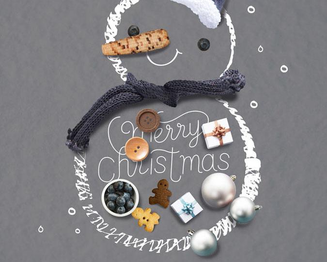 组合圣诞雪人PSD素材