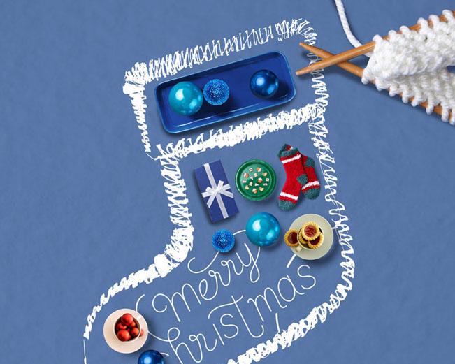 形状圣诞袜PSD素材